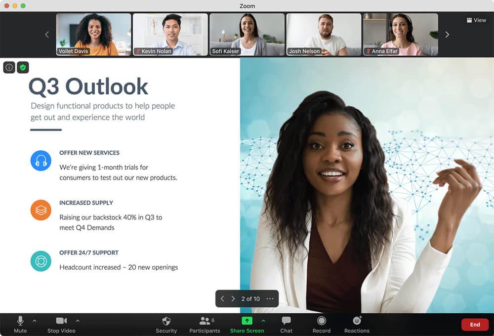 Zoom meetings chat immersive