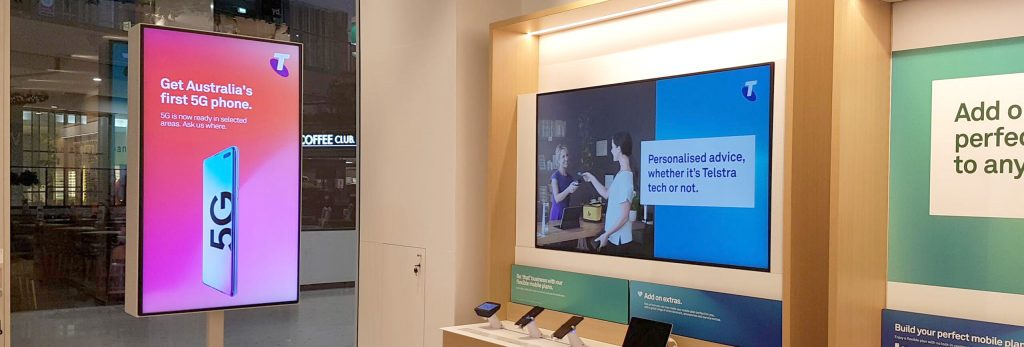 Telstra gallery digital signages